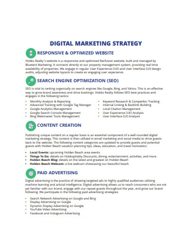 basic digital marketing strategy format