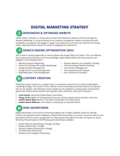 basic digital marketing strategy format