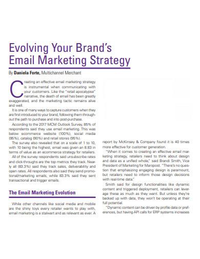 basic email marketing strategy