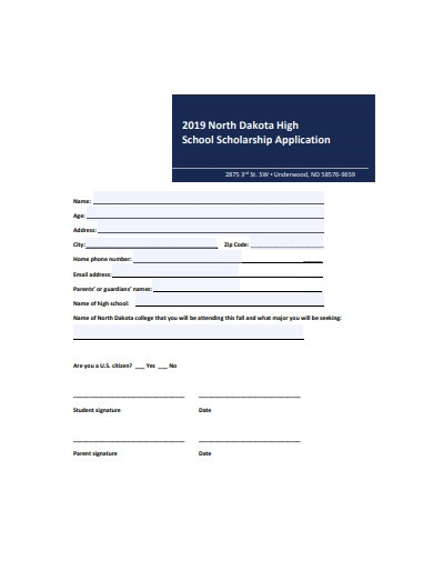 basic high school scholarship application
