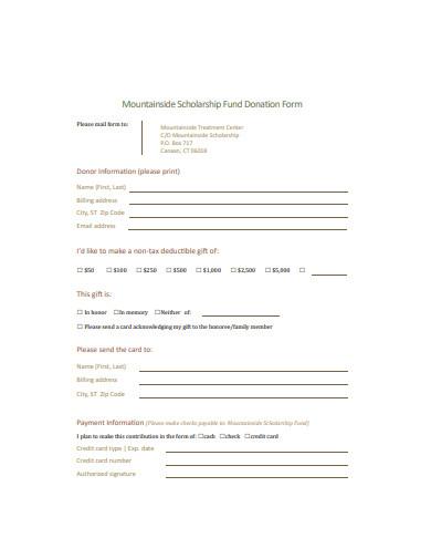 basic scholarship fund donation form