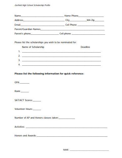 basic scholarship profile