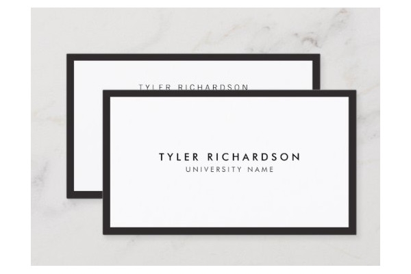 classic graduate student business card