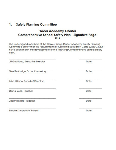 comprehensive school safety plan in pdf