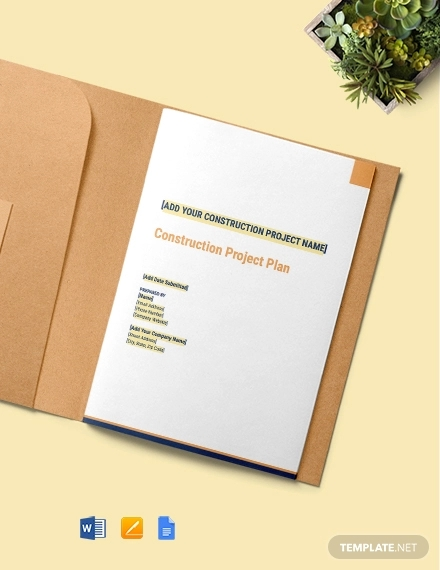 construction project plan template
