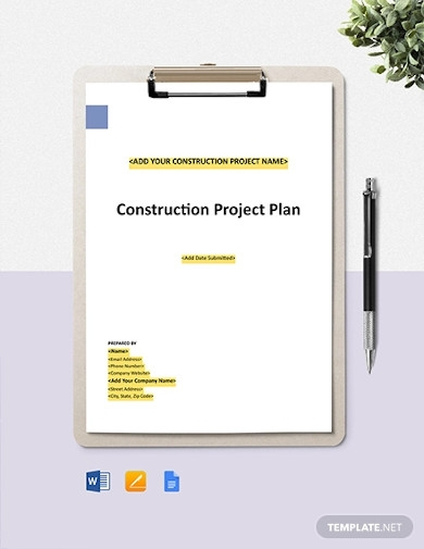 construction project safety management plan template