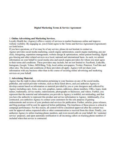digital marketing services agreement format