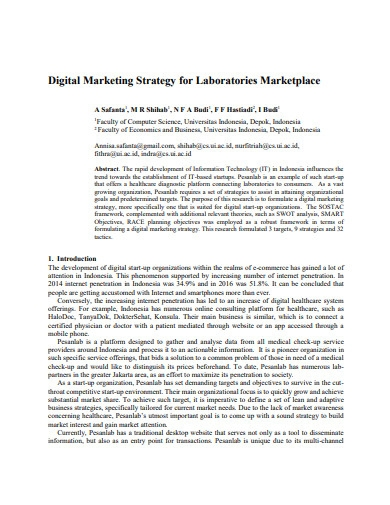 digital marketing strategy for laboratories
