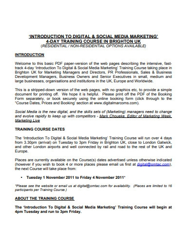 digital and social media marketing example
