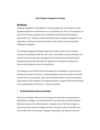draft employee engagement strategy