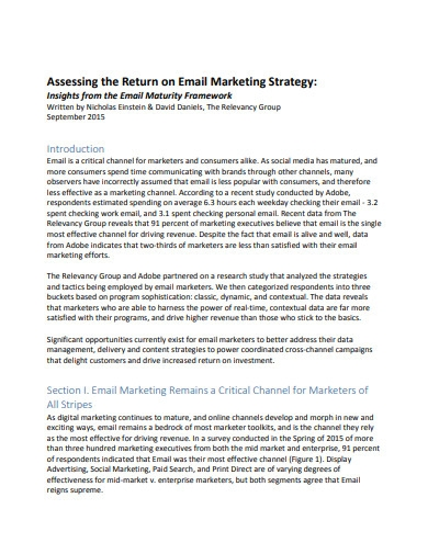 email marketing strategy example
