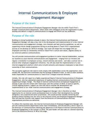 employee engagement manager strategy