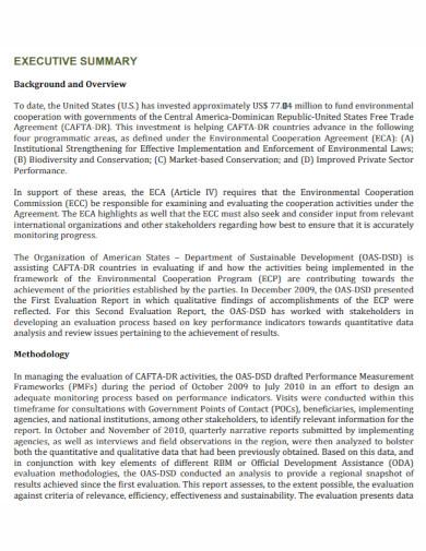 environmental executive summary