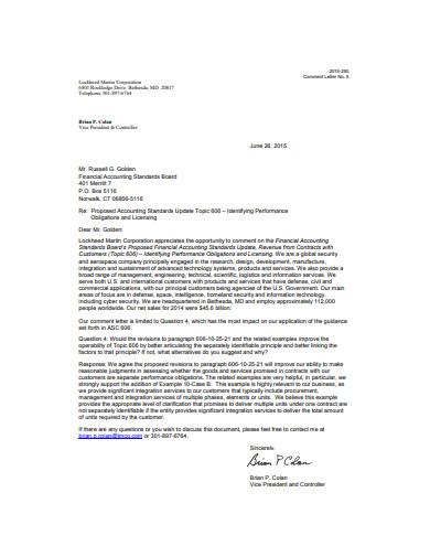 executive letterhead example