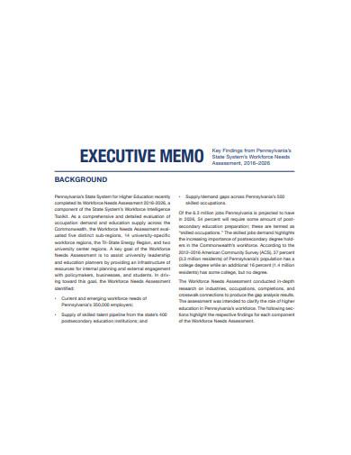 executive memo format