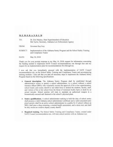 executive memo in pdf