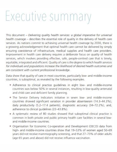 executive summary document