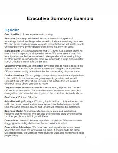 executive summary example1