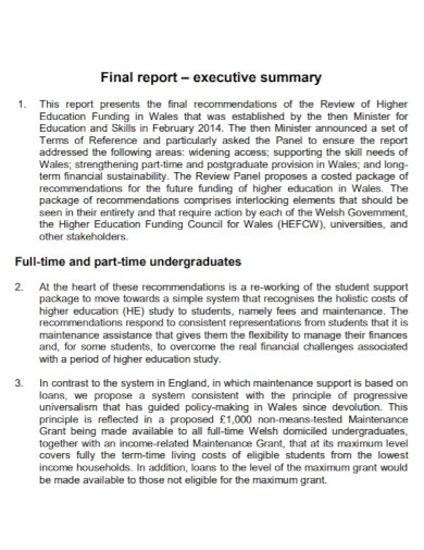 executive summary final report