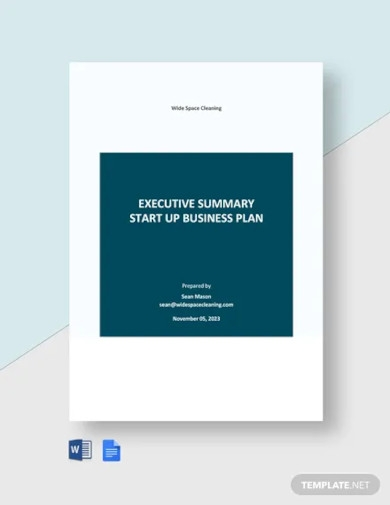 executive summary startup business plan templates