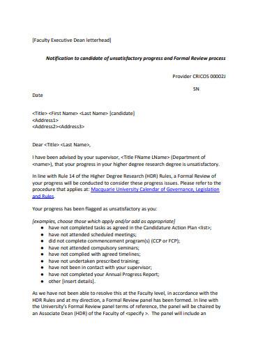 faculty executive letterhead