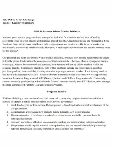 farmers executive summary