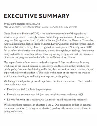 gdp executive summary
