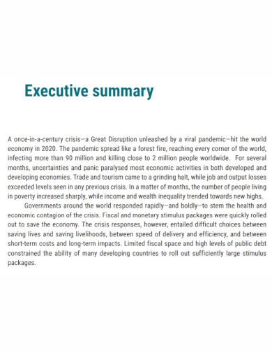 general executive summary