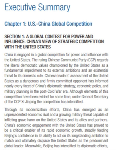 global competition executive summary