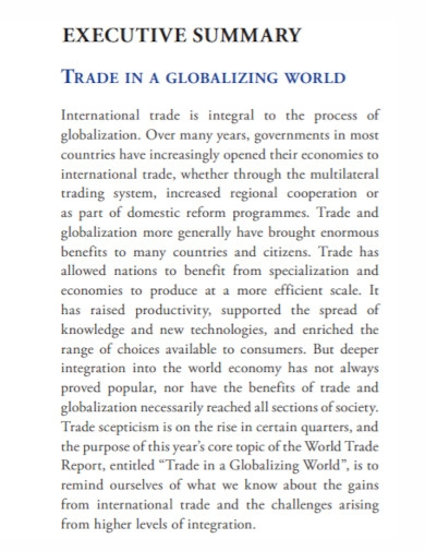 global executive summary