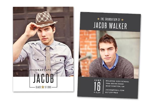 graduation announcement card senior