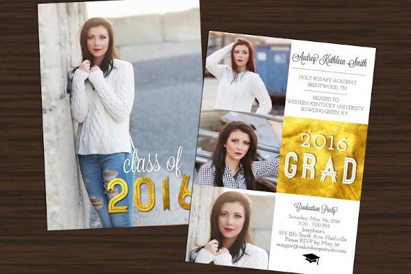 graduation announcement photo session flyer