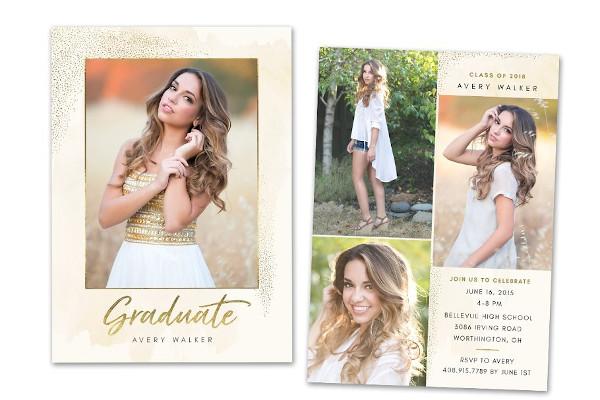 graduation announcement senior card