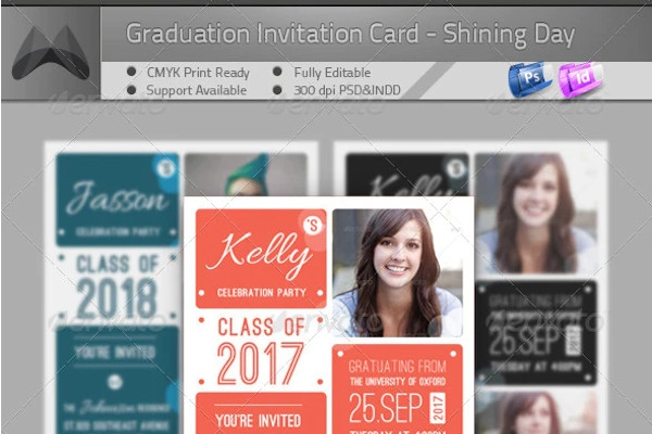 graduation announcement shining day flyer