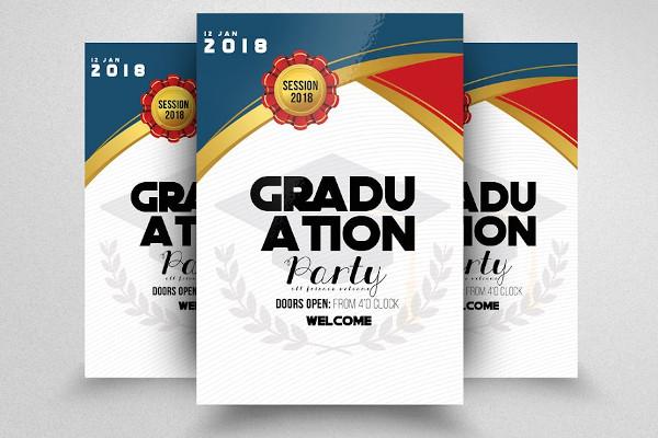 graduation ceremony announcement flyer