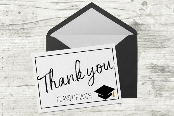 graduation digital thank you card