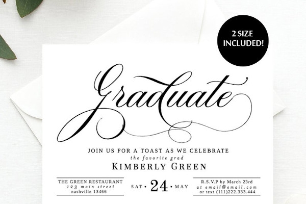 graduation dinner party invitations