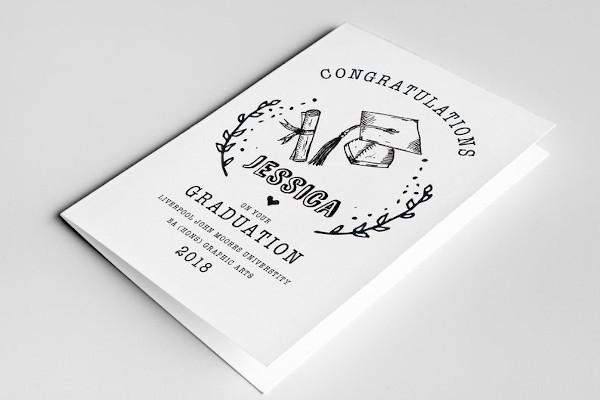 graduation master card template