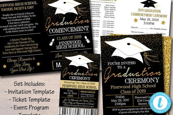 graduation program announcement flyer
