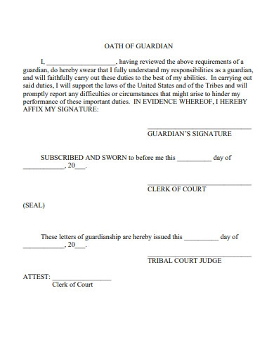 guardianship letter example