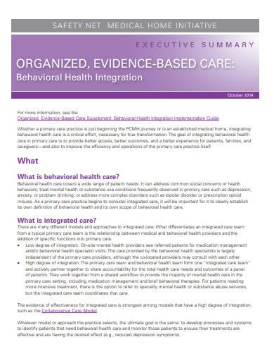 healthcare executive summary