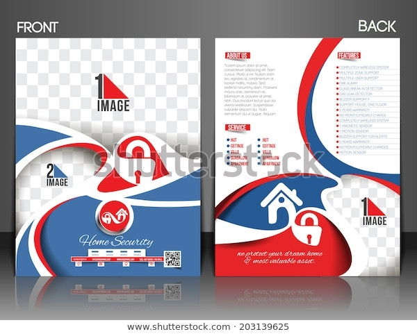 home security centre front and back flyer