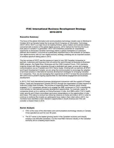 international business development strategy