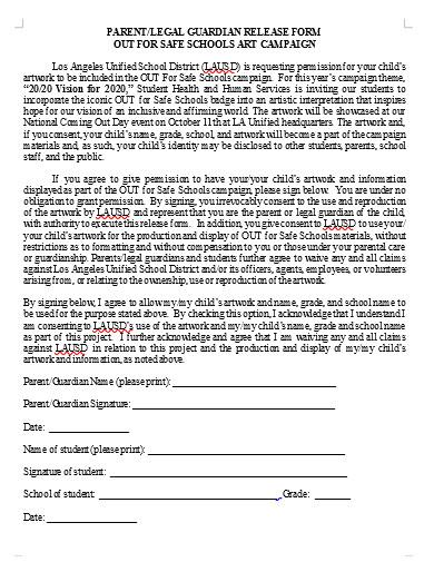 legal guardianship release form