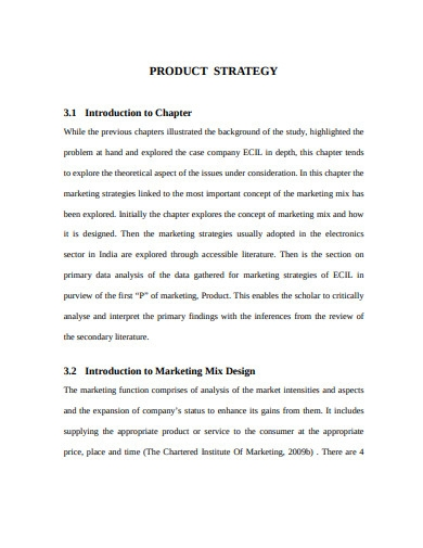 marketing mix product design strategy example