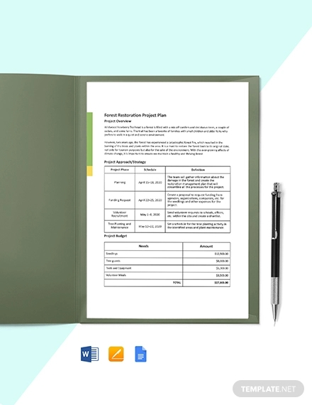 one page construction project plan template