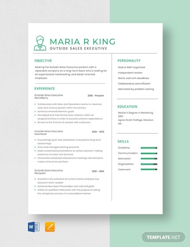 outside sales executive resume template