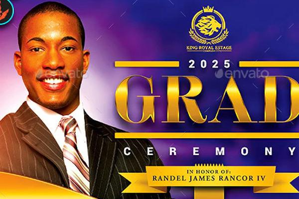 pastors graduation ceremony announcement flyer template
