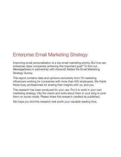printable email marketing strategy