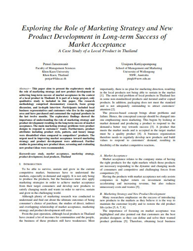 product development marketing strategy template